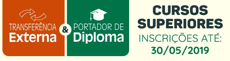 Transferência externa e portador de diploma