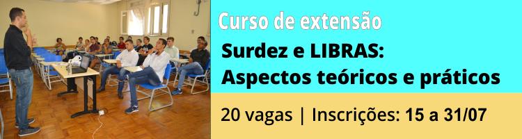 Banner curso extensão Libras e Surdez
