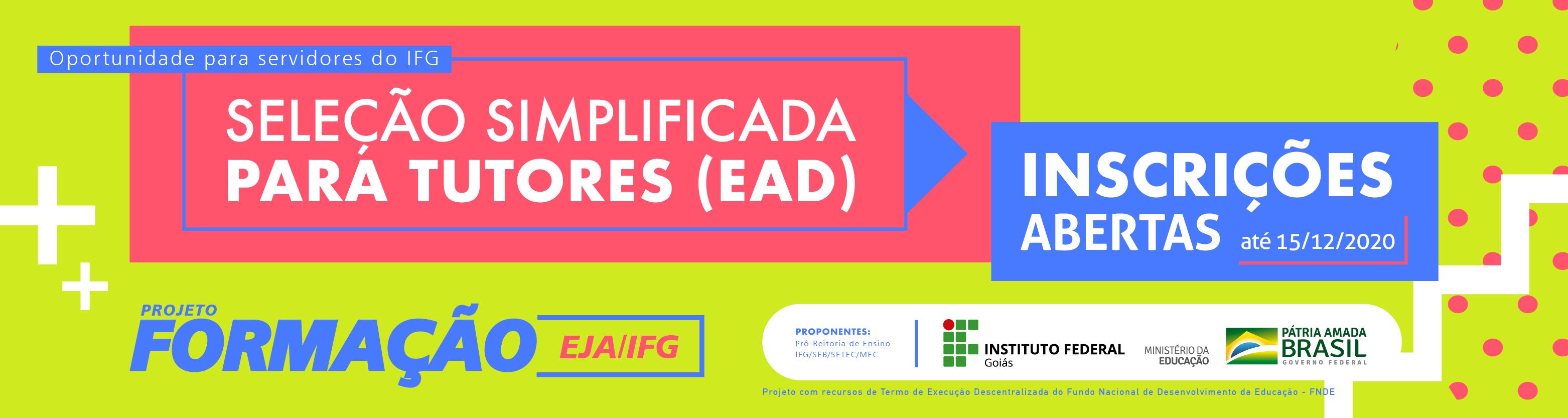 Projeto Formação EJA/IFG