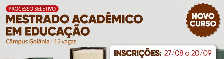 Mestrado em Educação - inscrições até 20/09