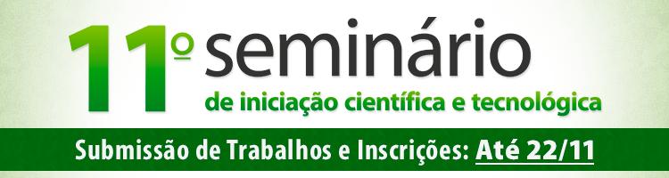 11º SEMINÁRIO DE INICIAÇÃO CIENTÍFICA E TECNOLÓGICA (11º SICT/IFG/2018)