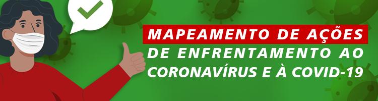 Mapeamento das ações institucionais Covid-19